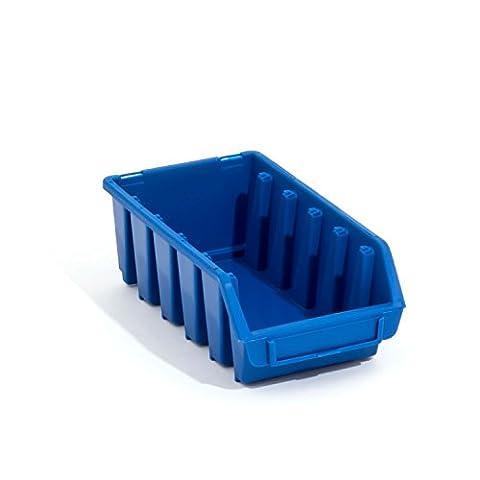 Lot de 10 boites de rangement bacs a bec en bleu ERGO-Box taille 2L