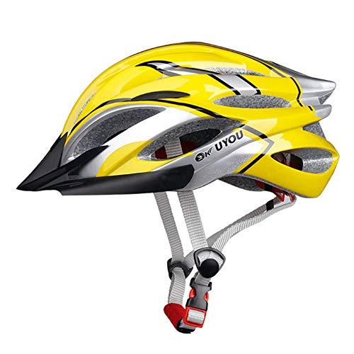 Fahrradhelm(57-61cm),TriLance MTB Helm Erwachsene, Verstellbar Radhelm mit Abnehmbarem Visier und Polsterung, Trekking & City Rennradhelm Schwarz Sporthelme für Fahrradfahren Scooter (A)