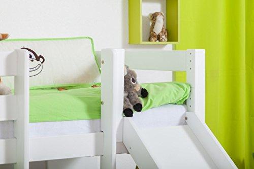 Etagenbett Teilbar Mit Rutschen : ᐅᐅ】 etagenbett buche massivholz weiß mit regal und rutsche