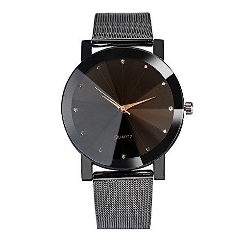 ICNCVKX Herrenuhr, Schlanke Damenuhr, Ø36 mm, Casual Business Watch, Dezente Luxusuhr, Geschenkuhr(Black)