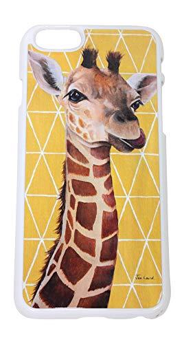 Jan. Laird Kunst-gelber Georgie Giraffe iPhone 6 / 6S Telefon-Abdeckungs-Fall Georgie Giraffe