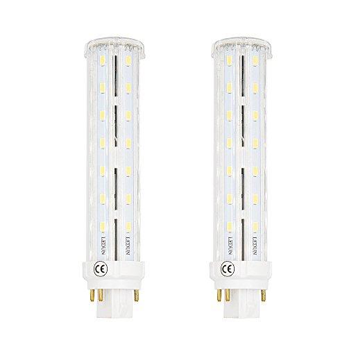 Lustaled 2-Stück GX24Q LED Maislampe 12W Warmweiß 2800K Retrofit PL Leuchtmittel 4-Stifte 1200 Lumen 220V (Entfernen den Ballast/ Vorschaltgerät)