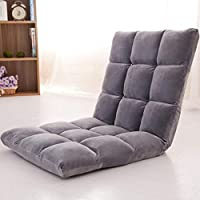 Floor Chairs Adjustable Lazy Floor Sofa Folding Chair Memory Foam Floor Chair for Reading Games Meditating Padded Gaming Chair (Grey)