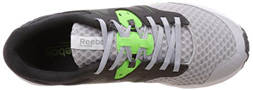 Reebok Exhilarun, Sneaker uomo Grigio/verde/bianco/nero (Steel/Ash Grey/Solar Green/White/Coal)