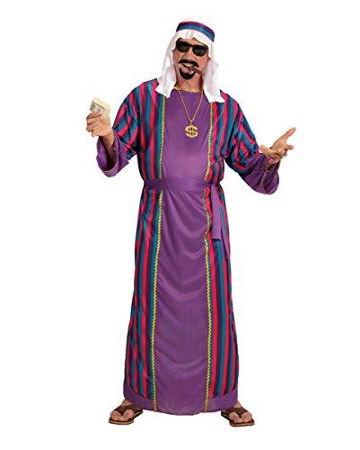 Orientalischer Araber Scheich Sultan Kostüm 3-tlg. (Scheich Arabischer Erwachsene Kostüme)