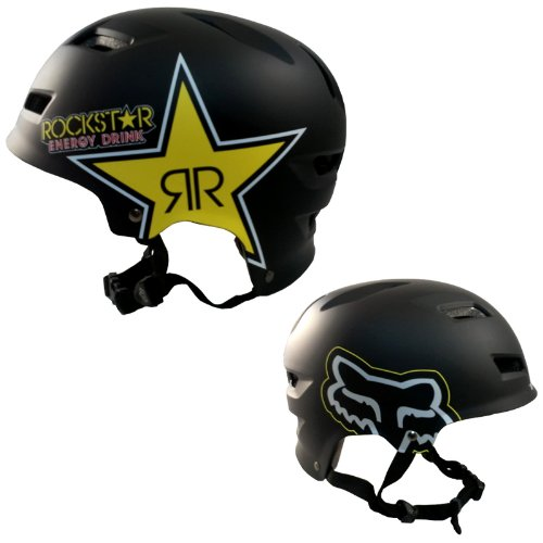 Fox Rockstar TRANSISTION Hard Shell Helm, unisex, matte black