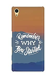 AMEZ remember why you started Back Cover For Sony Xperia Z5