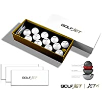 GOLFJET JET4 Three Dozen Premium Golf Balls. 4-Layer Twin Power Core, 338 Hex Aero Pattern with Ultrasoft Urethane Cover. Improve Driver Distance, Maximise Short Game Spin, Ultimate Control.
