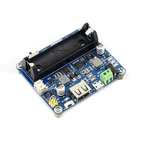Waveshare Solar Power Management Module for 6V~24V Solar Panel Supports Solar Panel/USB Connection Battery Charging Onboard MPPT Set Switch DC-002 Jack/Screw Terminal Input Screw Terminal Panel