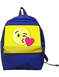 Aaronna Kiss Emoji Kid's Classic Backpack Unisex Water Resistant School Rucksack Travel Backpack