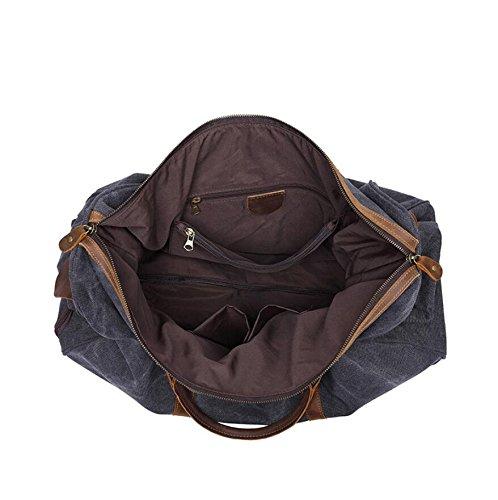 LF&F 45-55L GroßE KapazitäT Trolley-Taschen UmhäNgetasche Retro-Handtasche Diagonal-Paket Multifunktions-Outdoor Sport-Reisen Camping Storage BagKoffer C