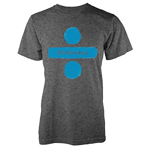 Ed Sheeran Mens Graphic Printed T-Shirt - (Divide Logo) Charcoal - X Large
