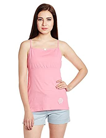 Enamor Women's Cotton Top (CA02_Light Pink_Small)