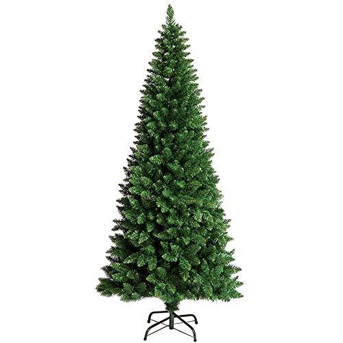 ZMSD künstlicher Weihnachtsbaum Künstlicher Weihnachtsbaum 7 Ft Größe Kiefern Künstlicher Baum- Metallständer -Flammhemmendes PVC-Material-Grün (7ft Weihnachtsbaum)