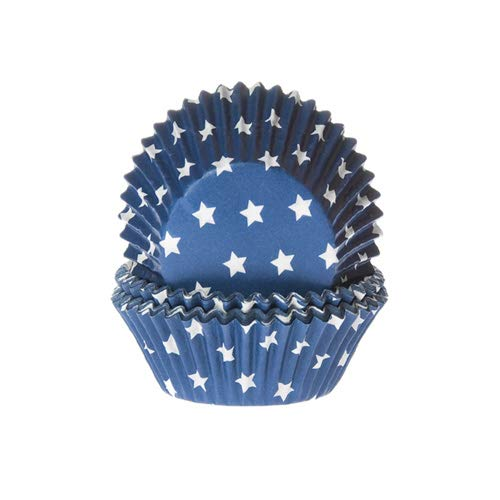 50 Muffinförmchen, dunkelblau mit Sternen -
