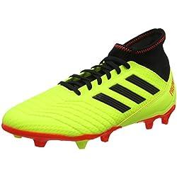 Adidas Predator 18.3 Fg, Scarpe da Calcio Uomo, Giallo (Amasol/Negbás/Rojsol 000), 40 EU