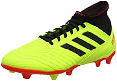 Idea Regalo - adidas Predator 18.3 Fg, Scarpe da Calcio Uomo, Giallo (Solar Yellow/Core Black/Solar Red), 40 EU