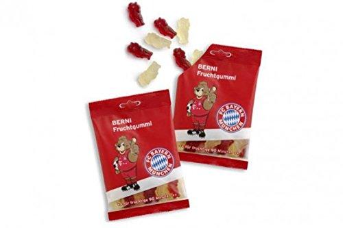 Preisvergleich Produktbild Fruchtgummi FC Bayern MÜNCHEN + gratis Sticker,  Munich - 125 g Gummibärchen