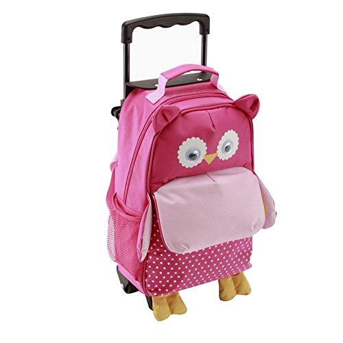 Maleta o bolsa de carrito para niños, de Yodo. Mochila de carrito infantil de 3 funciones, con bolsillo delantero de acceso rápido para aperitivos. Para niños y niñas de 3 años o más rosa Medium-Owl Talla:4-6 years