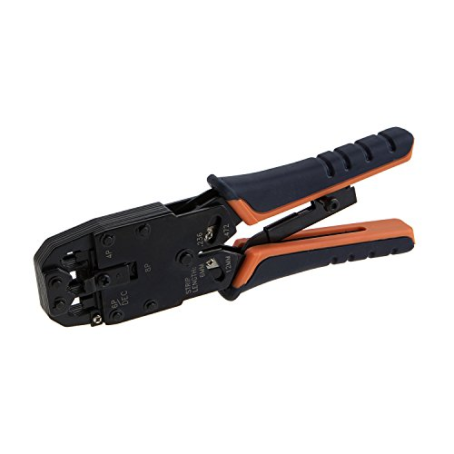 CableCreation Crimp Tool (Cutting & Stripping Tool) for 8P8C/RJ-45, 6P6C/RJ-12, 6P4C/RJ-11, 4P4C