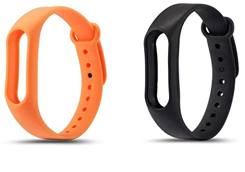 m-fit Mi Band 2 Strap Belt M2 Also compitable (Black & Orange)