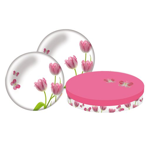 Paperproducts Design Dessertteller, Tulpenmotiv, 2 Stück
