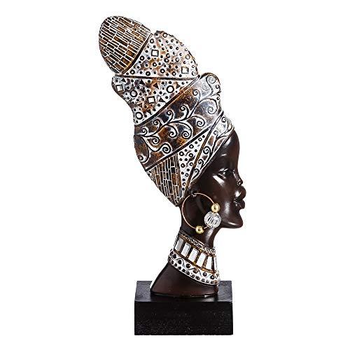 Figura Africana marrón de Resina étnica para decoración Arabia - LOLAhome