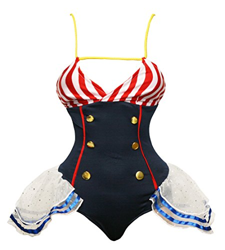 BSLINGERIE® Damen Sexy Matrose Halloween Karnival Kostüm (M, Matrose - Teddy Set)