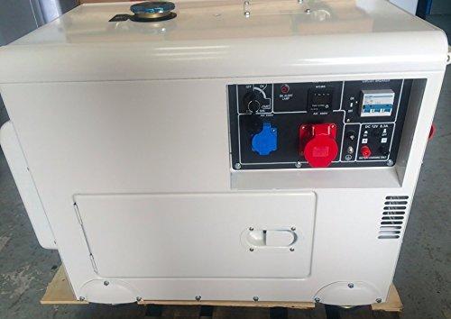 Generator Diesel Endschalldämpfer 8kVA triphasé 230400V Autostart + Quelle Changer