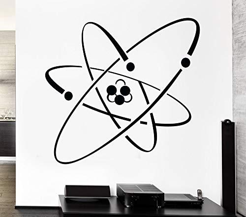 JJHR Wandtattoos Wandaufkleber Atom Elektron Wissenschaft Chemie Kernphysik Dekor Wandaufkleber Wandbild 44 * 42 cm