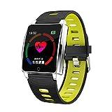 Fuibo Smartwatch Fitness Tracker, Wasserdicht IP67 Fitness Tracker, Bluetooth Smart Watch Herzfrequenzaktivität, Schrittzähler Sportuhr Armband für Frauen Männer Kompatibel mit Android und IOS (Gelb)