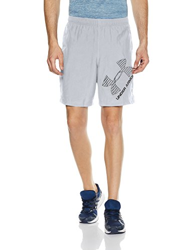 Under Armour Ua 8 Woven Graphic Shorts, Herren Fitness - Hosen & Shorts, Grau Steel, L