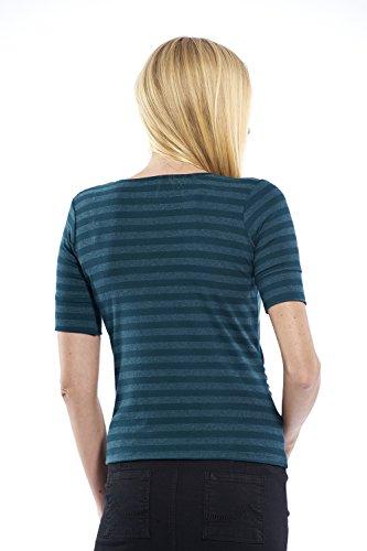 Damen Bluse Schwangerschaftsmode, T-Shirt gestreift Umstandskleidung aus dehnfähigem Material Grün Gestreift