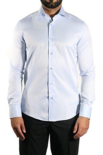 Elegante Strukturstreifen Muga Slim-fit/Tailliert Muga Hellblau