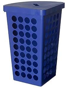 plast team 60131734 panier linge d 39 angle avec couvercle. Black Bedroom Furniture Sets. Home Design Ideas