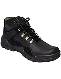 Mr. ShoeMaker Men's Casual Boots (Black)