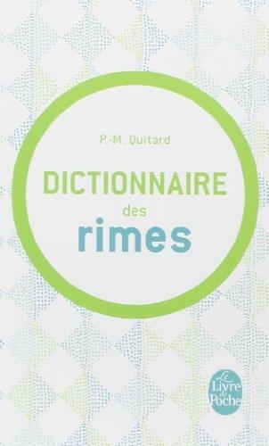 Dictionnaire Des Rimes (Ldp Dictionn.) by P. M. Quitard (2001-08-01)