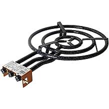 Garcima 20600 - Hornillo paellero 600/3 fuegos, 60 x 89 x 13,2 cm, color negro