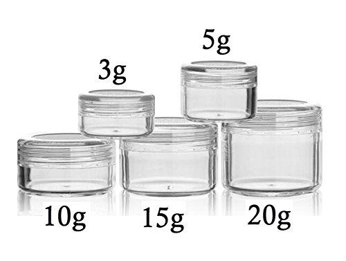 12 STÜCKE 20g Durchsichtigen Kunststofftopf Gläser Reise Kosmetikbehälter mit Deckel Groß für Creme Gesichtsmaske Make-Up Lotion Emulsion Flaschen Container (20g) (1.7 Unzen-flasche)