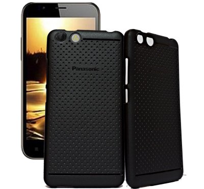 ECellStreet Exclusive Dotted Matte Finish Soft Back Case Cover Back Cover For Panasonic P55 Nova - Black