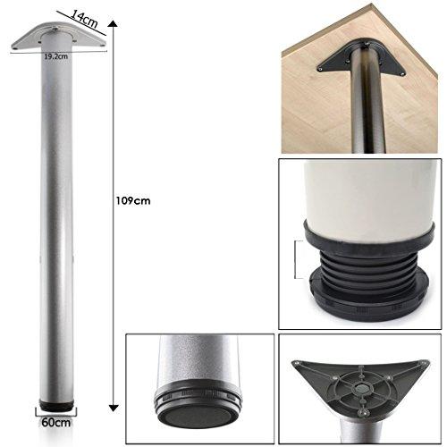 Preisvergleich Produktbild JJOnlineStore - verstellbar Küchentresen Tischbein Chrom mit Montagebügel - 1090 mm