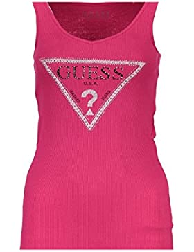 GUESS JEANS W81I19K1810 Camiseta de Tirantes Mujer Rosa A469 XL