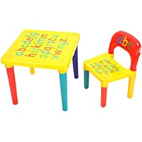 Preisvergleich für Zerone Kindersitzgruppe, Mehrfarbig Kindersitzgarnitur Kindersitzbank Activity Tisch Sitzgruppe Alphabet Kinderstühle Kindertisch Kindermöbel