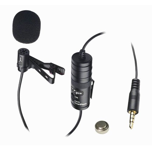 Canon VIXIA HF10 Camcorder External Microphone Vidpro XM-L Wired Lavalier microphone - 20' Audio Cable - Transducer type: Electret Condenser
