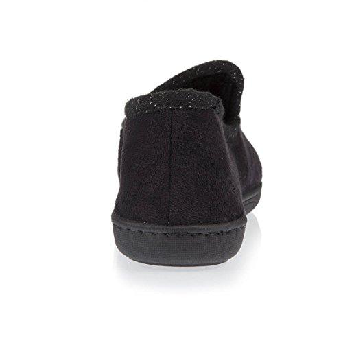 Isotoner, Pantofole donna Nero