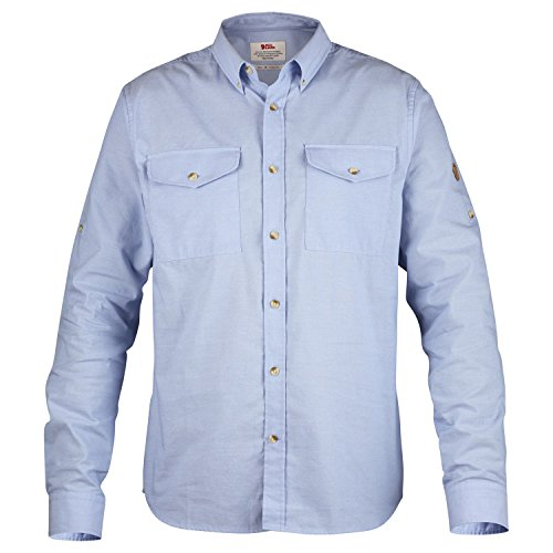 Fjällräven Herren Övik Chambray Shirt Hemd Blau Meliert
