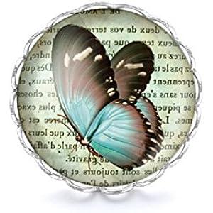 Ring mit Cabochon, Schmetterling