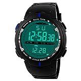 LANOWO Herrenuhr Armbanduhr LANOWO FüR MäNner Mode LED Digital Datum MilitäR Sport Gummi Uhr Alarm Wasserdicht Verkaufen Sich Wie Warme Semmeln Watch