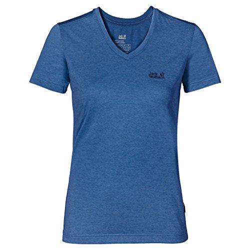 Jack Wolfskin Damen Shirt Crosstrail T, Peacock Blue, M, 1801692-1156003
