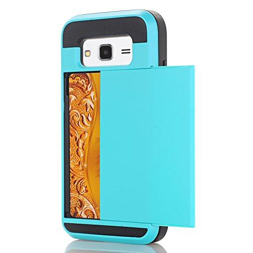 Galaxy A510 Hülle,EVERGREENBUYING [Slider Series] Abnehmbare Hybrid Schein SM-A5100 Tasche Ultra-dünne Schutzhülle TPU Fall Geschützt Cover für Samsung GALAXY A5 (2016) Weiß Hellblau